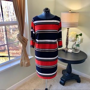 Studio One Striped Midi Dress Size 1X